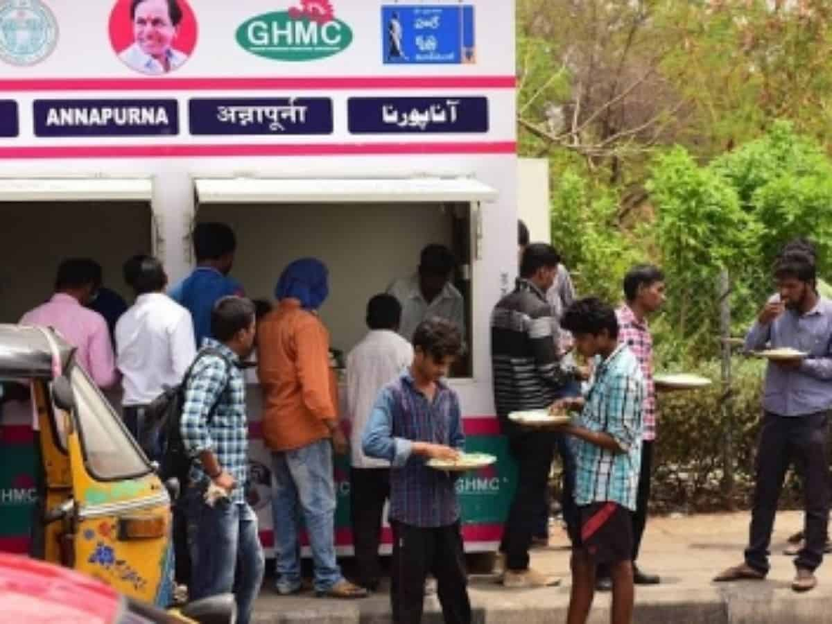 Hyderabad: Free meals for needy at Annapurna canteens