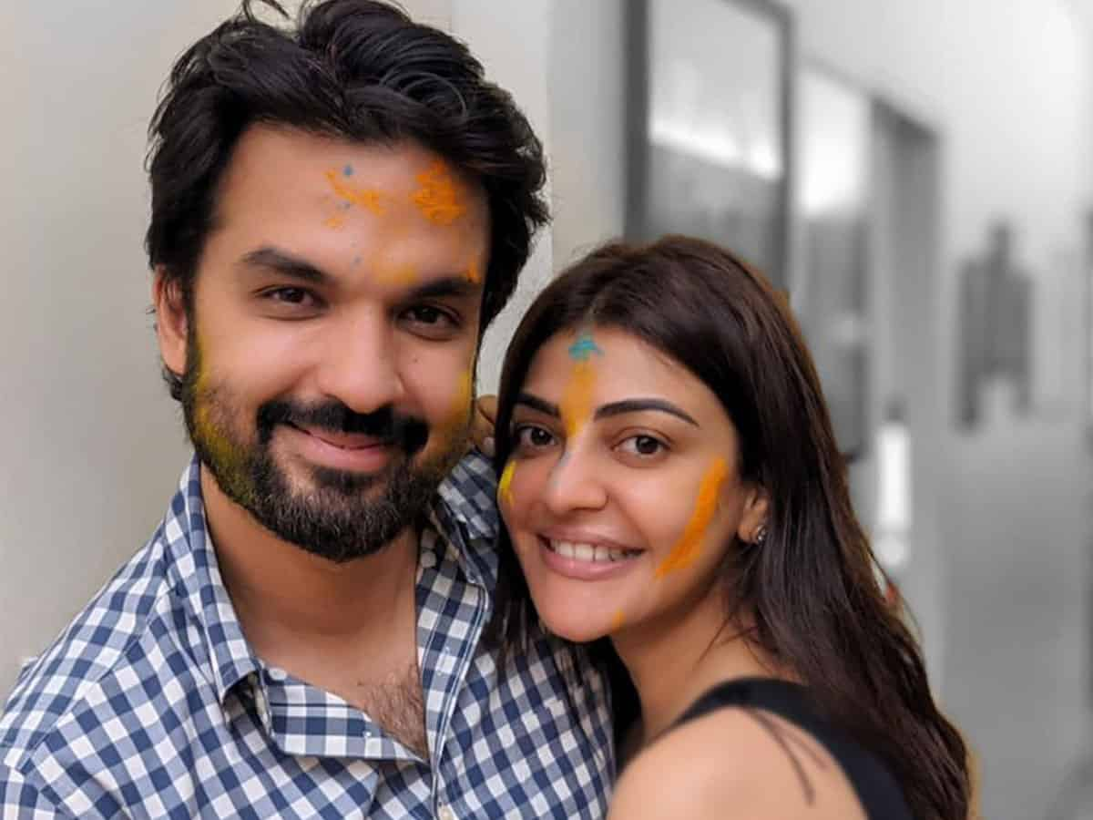 Kajal Agarwal shares a happy photo-op with hubby