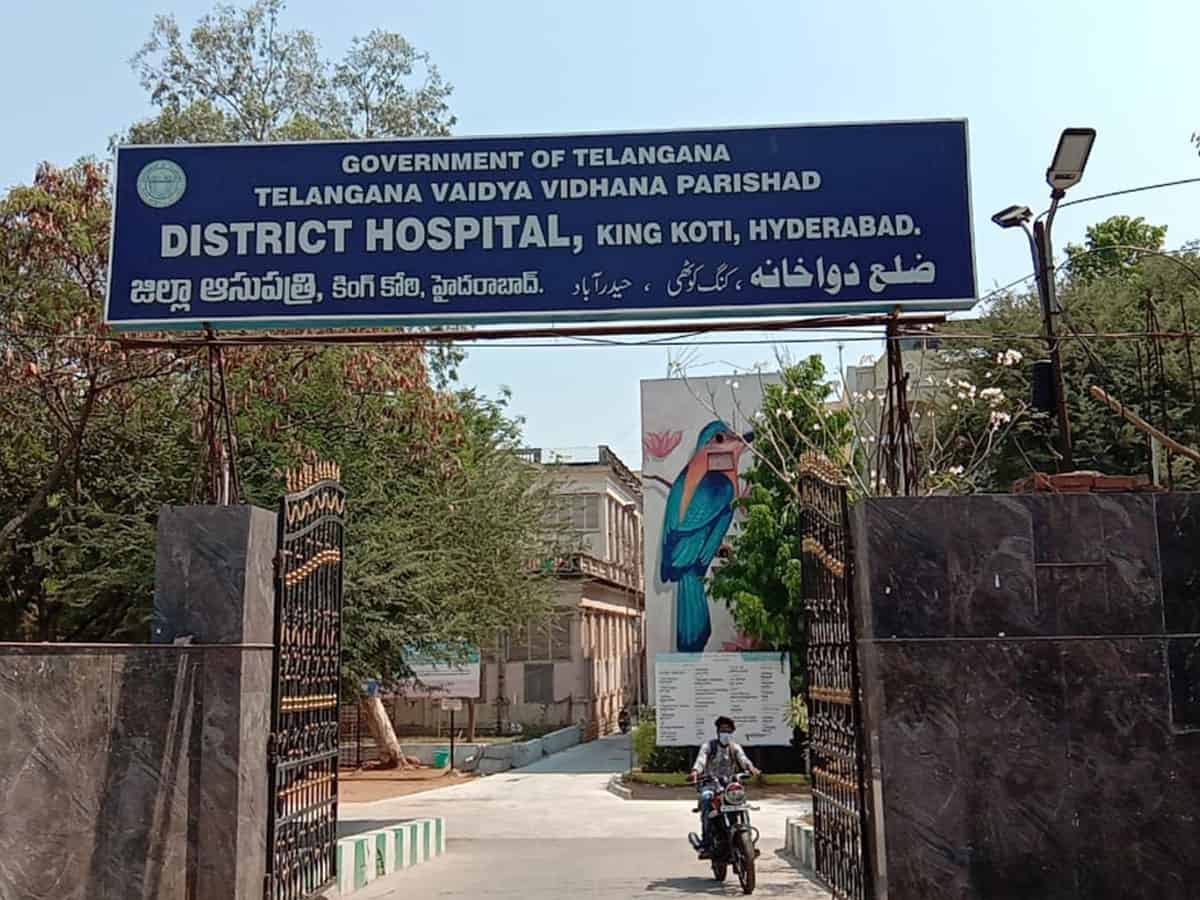 No vigil on COVID-19 patients in King Koti Hospital due to staff shortage
