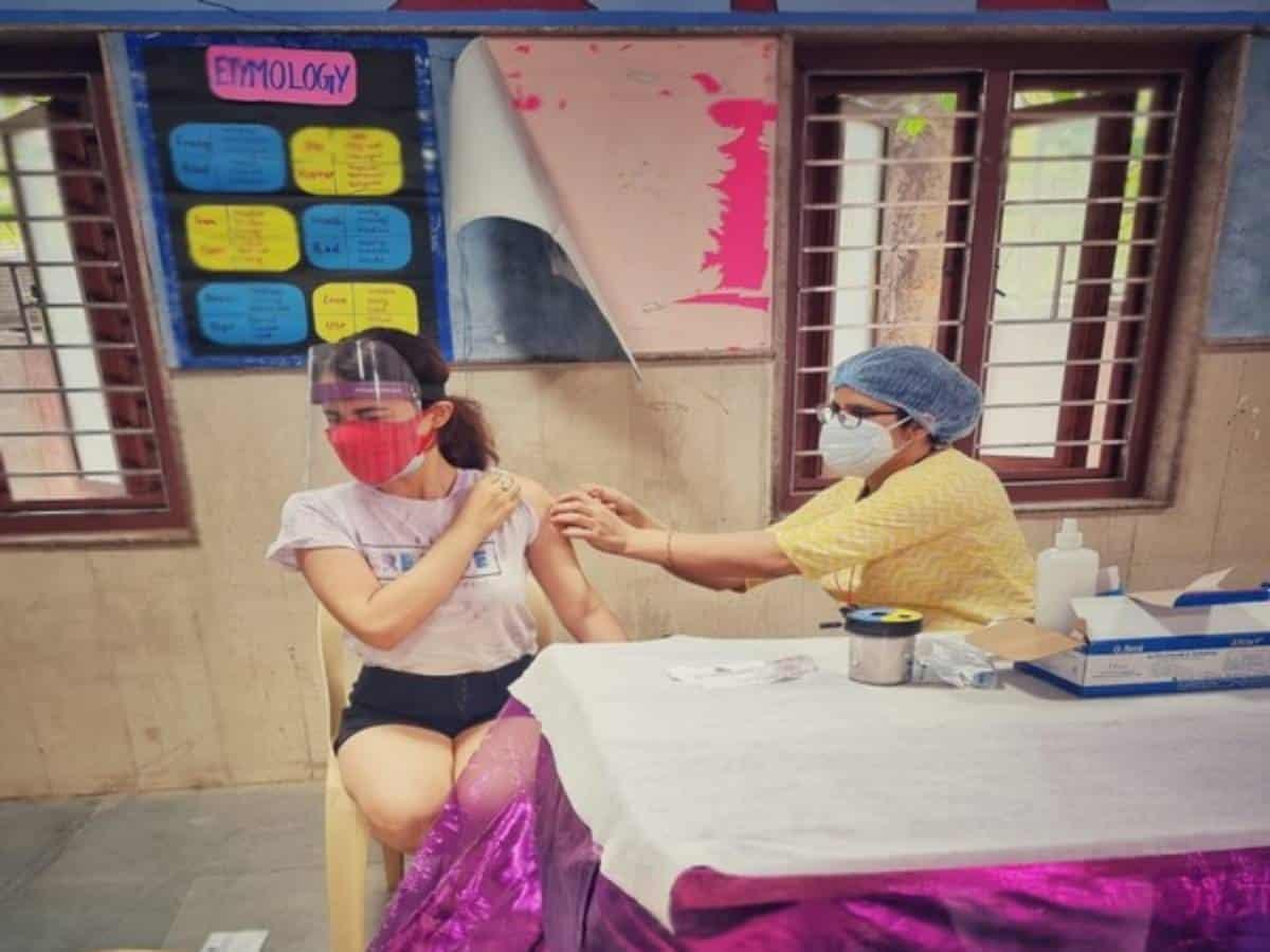 Radhika Madan gets COVID-19 vaccine, urges everyone to register