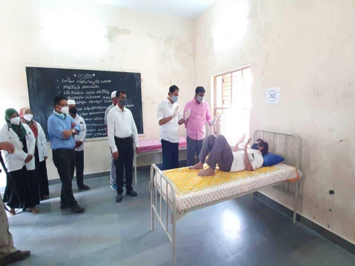 40-bed COVID isolation centre set up in Borabanda