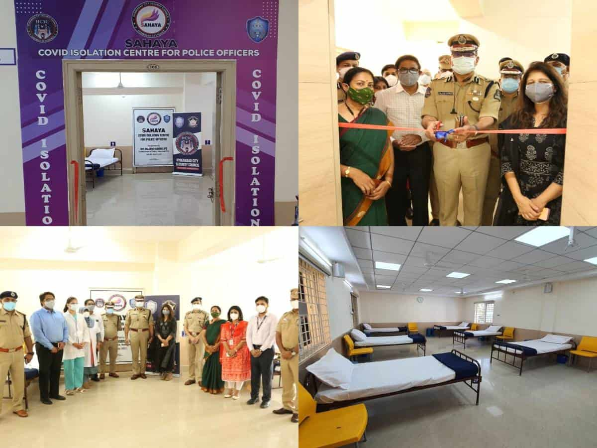 Hyderabad CP inaugurates COVID isolation center for police personnel