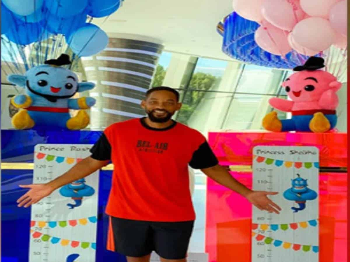 Hollywood star Will Smith sends gifts for Sheikh Hamdan's twins