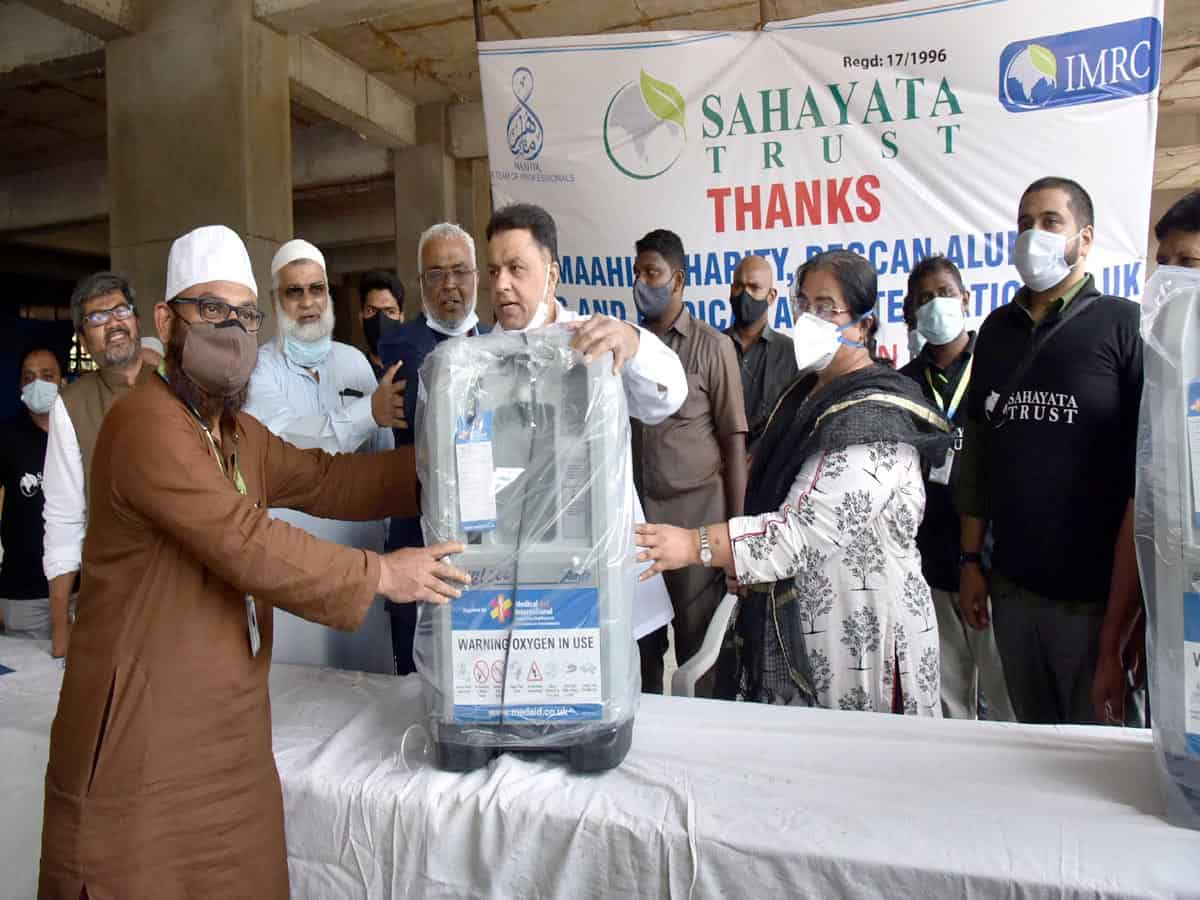 Consignment of donated Oxygen concentrators arrives in Hyderabad