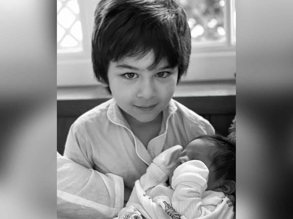 Kareena shares picture of younger son with Taimur, calls them 'her hope'