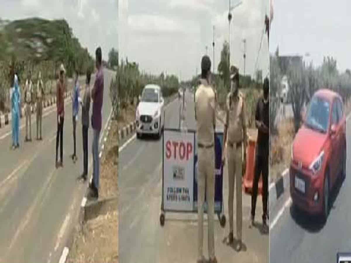 Telangana police stops Ambulances coming from AP