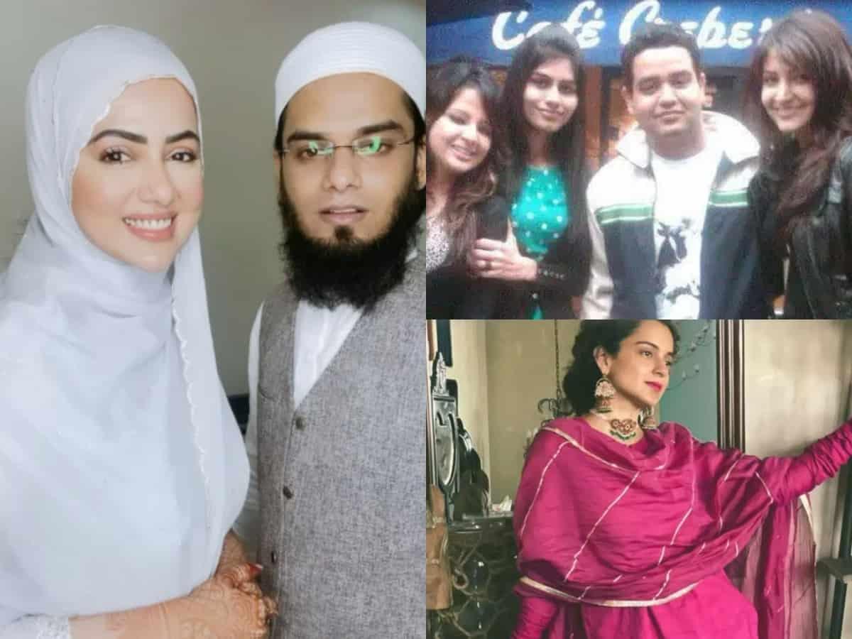 Trending pics: Sana Khan-Mufti Anas' Eid wishes, Anushka Sharma-Sakshi Dhoni's school pic & more