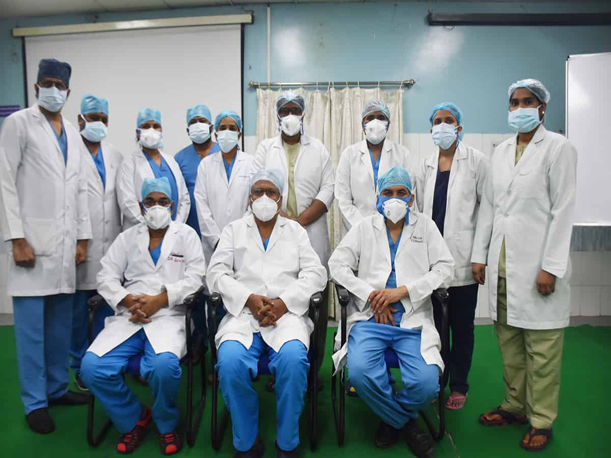 Rare surgery performed during Covid on a cardiac patient at Care hospital