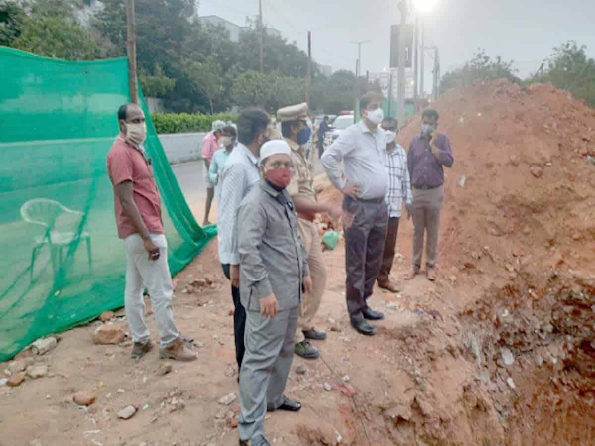 Tension prevails at Chanchalguda after graves found at petrol pump site