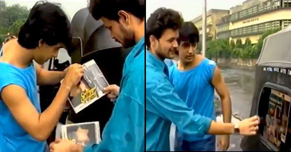 Old video of young Aamir Khan putting posters on autos goes viral