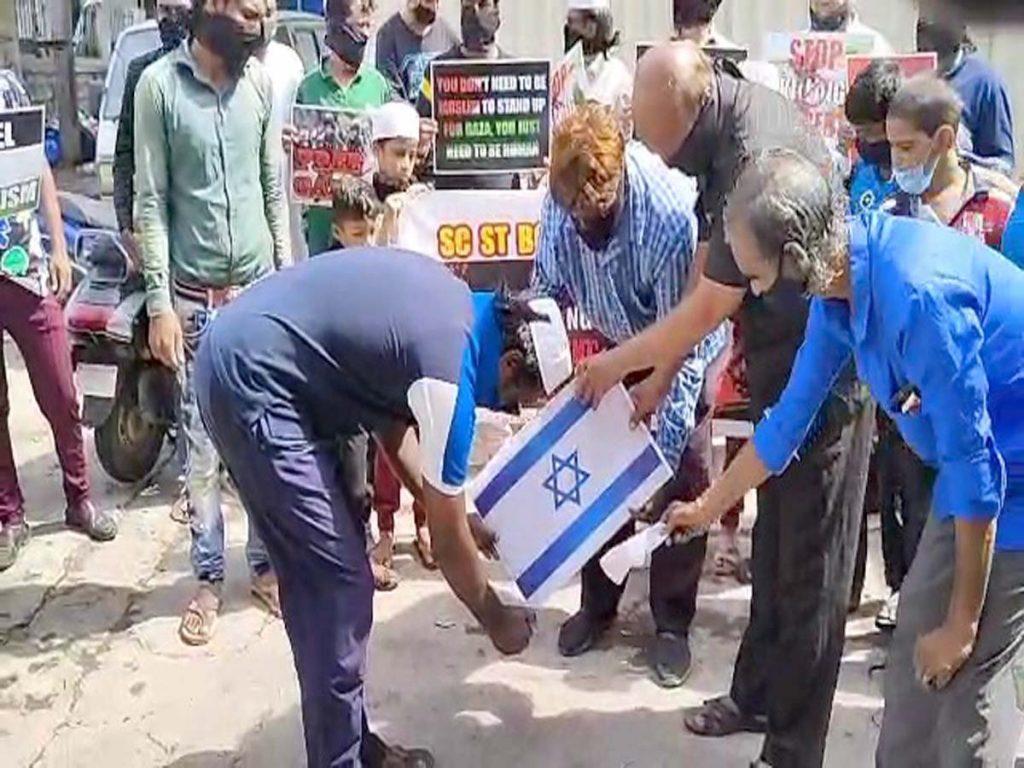 Hyderabad: Muslim front holds anti-Israel protest in Habeeb Nagar