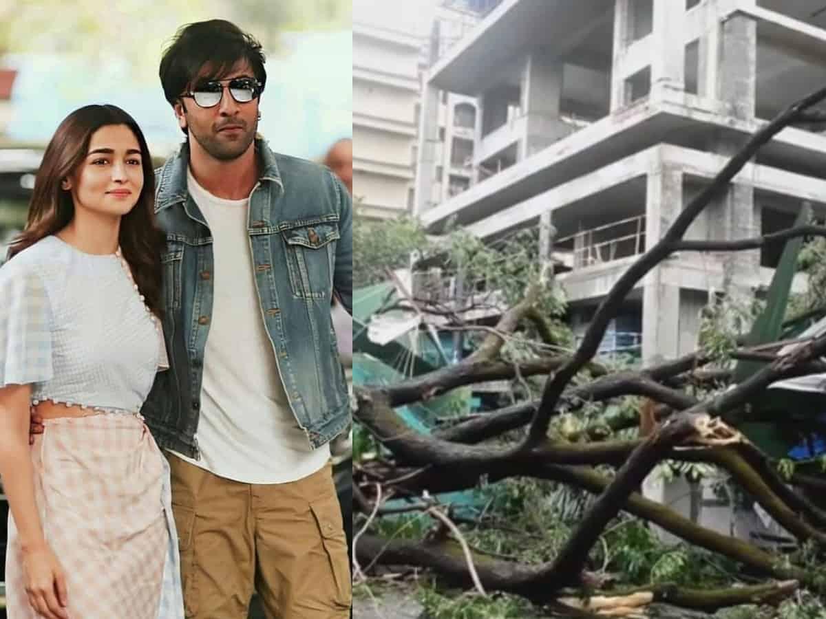 Ranbir-Alia's new Bandra home damages due to cyclone (Video)