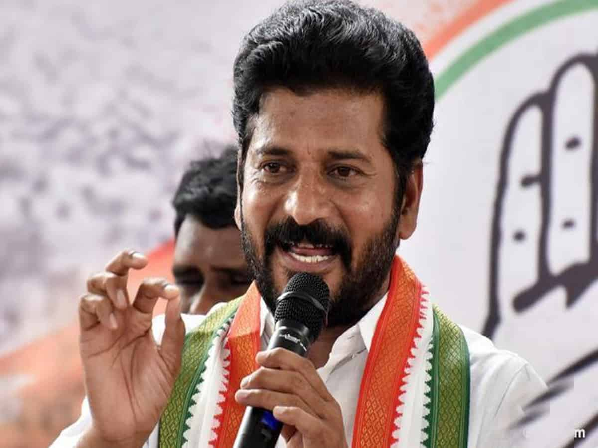 Revanth Reddy alleges endowment land grabbing by KCR's family