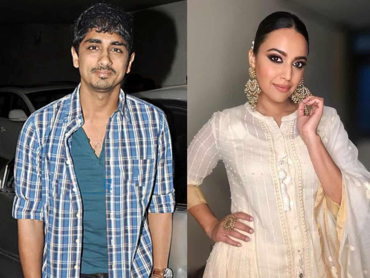 Twitterati call Siddharth 'South ka Swara Bhasker'; actors reaction is unmissable!