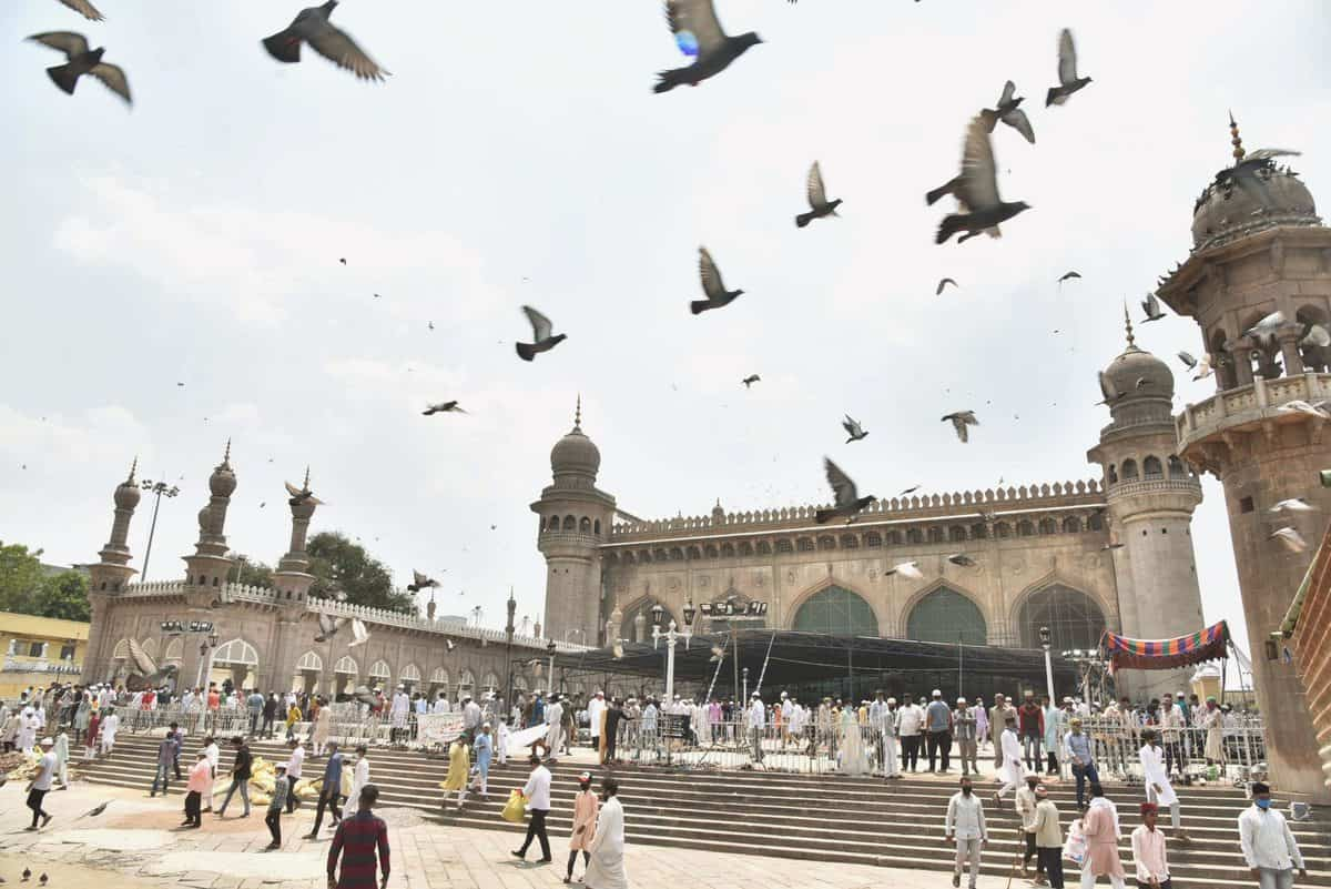 Hyderabad: Friday prayers offered at Makkah Masjid after five weeks