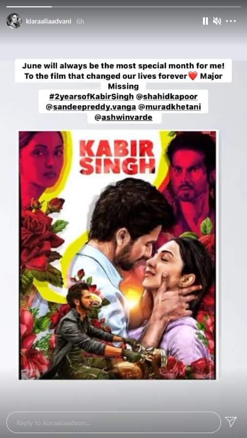 Kiara Advani celebrates 2 years of 'Kabir Singh', reveals June is her lucky month