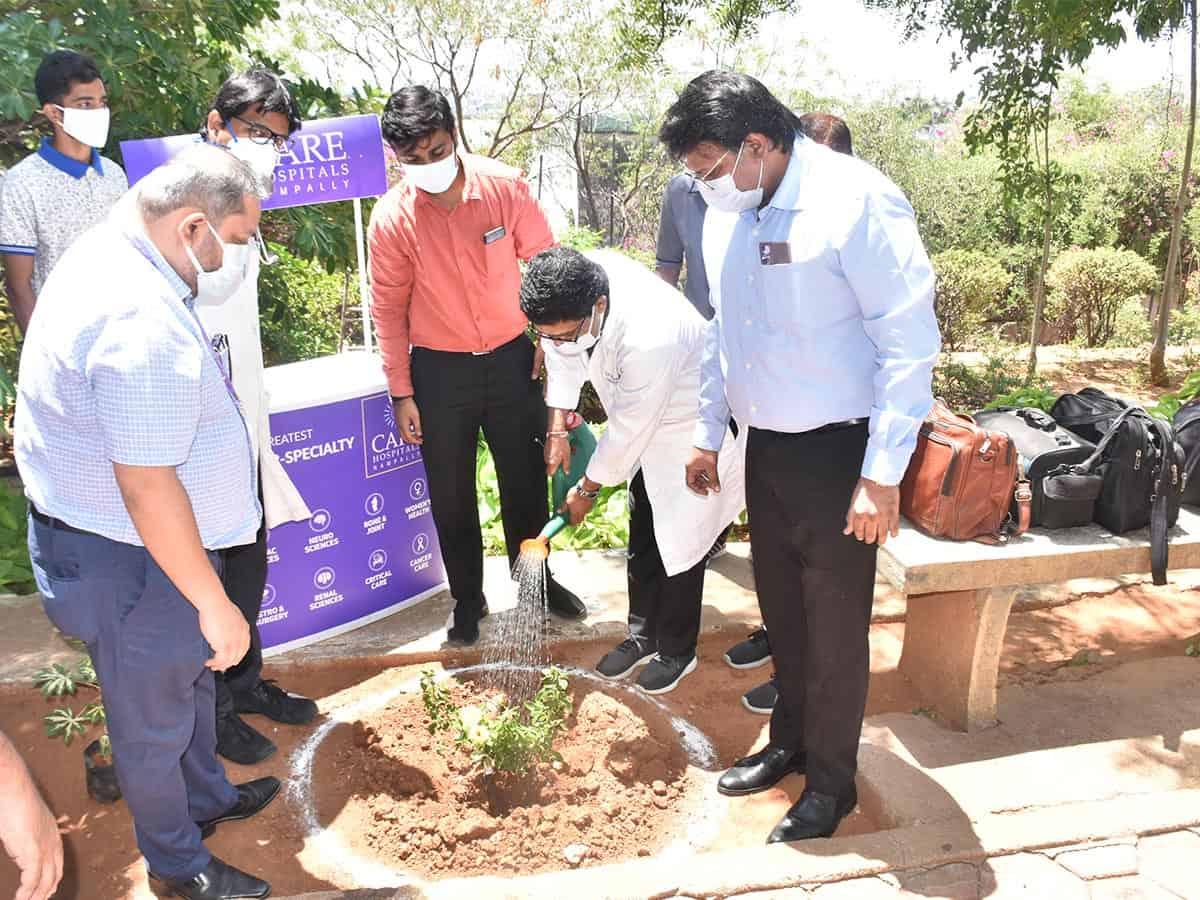 Care Hospital plants trees to mark World Environment Day