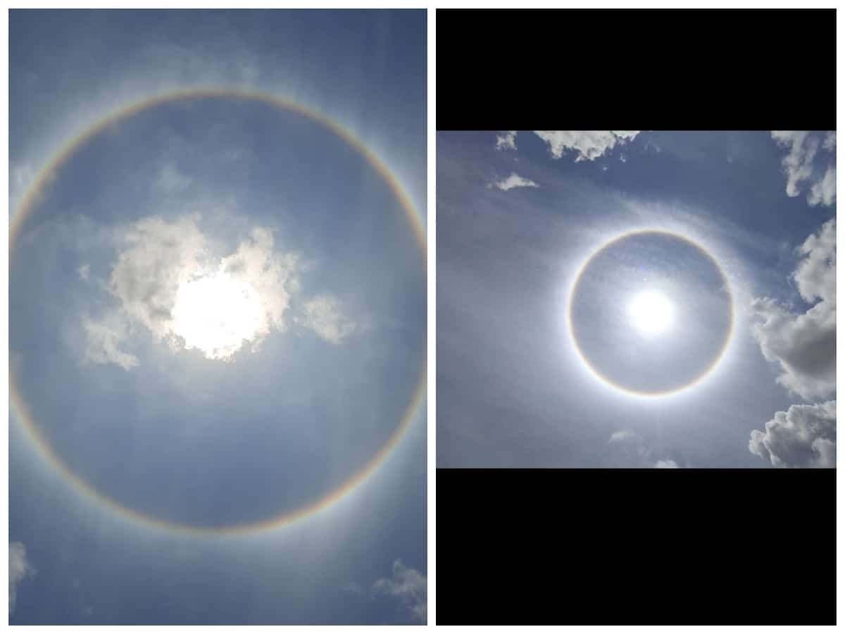 Rare Sun Halo spotted in Hyderabad; netizens in awe