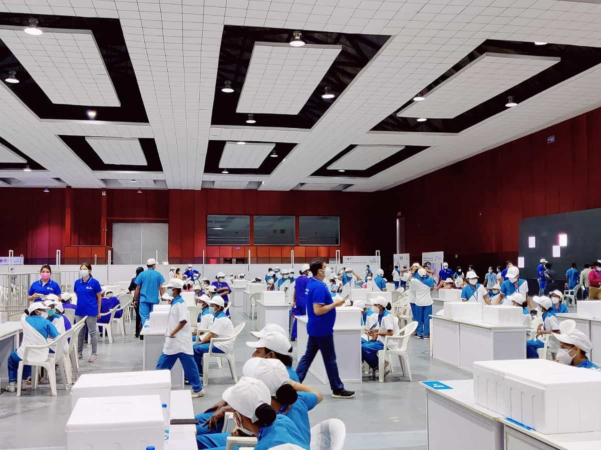 Hyderabad: Biggest COVID-19 vaccination drive starts at HITEX