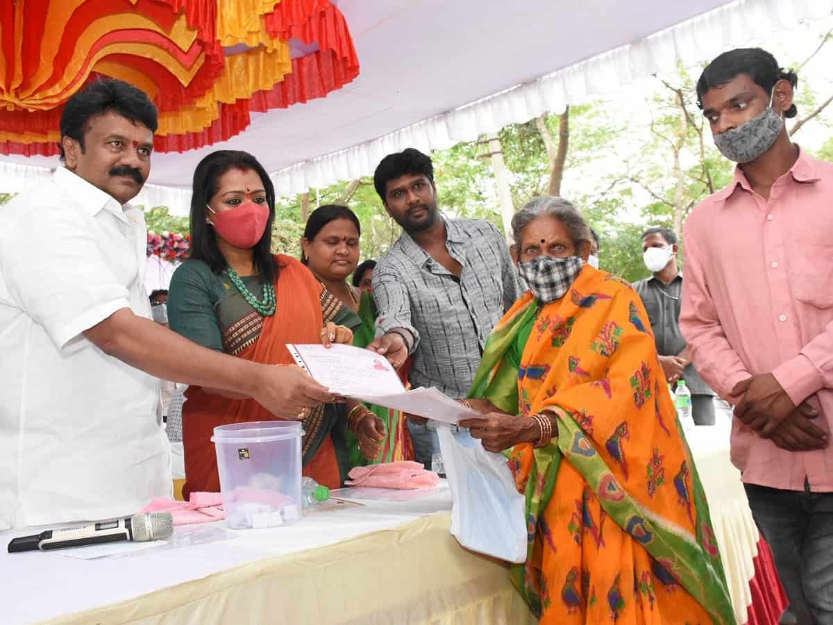 Hyderabad: 162 families get keys to new 2BHK houses