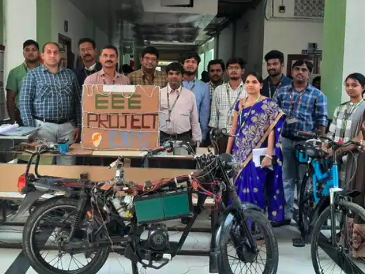 KL University students develop e-bike with wireless charging