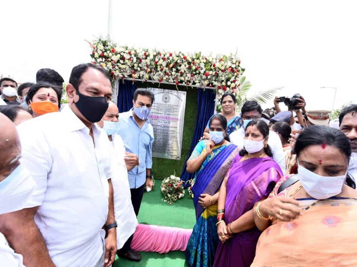 KT Rama Rao inaugurates construction-waste recycling plant