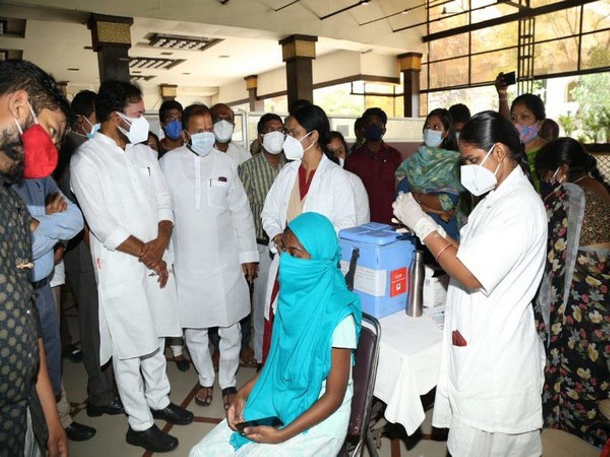 Kishan Reddy inspects COVID-19 vaccination facilities in Hyderabad