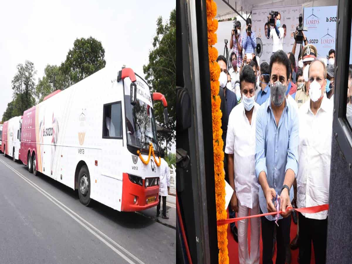 COVID-19: KTR launches 30 mobile ICU buses in Hyderabad
