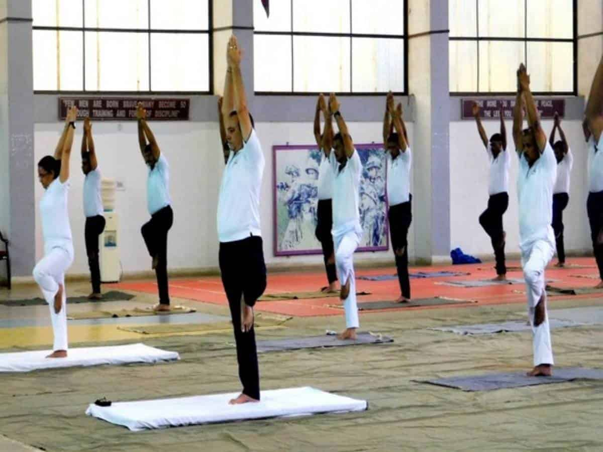 International Yoga Day celebrations at Secunderabad Military station