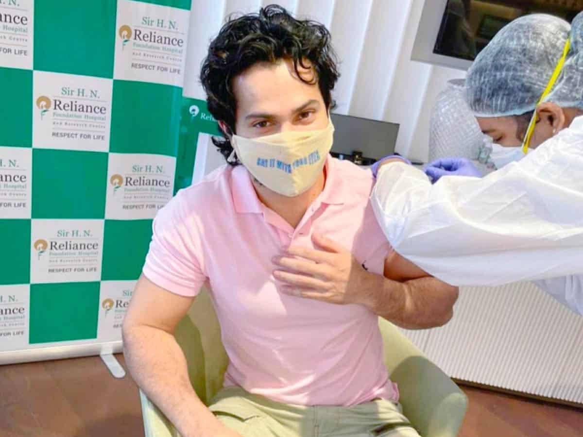Varun Dhawan gets first jab of Covid vaccine