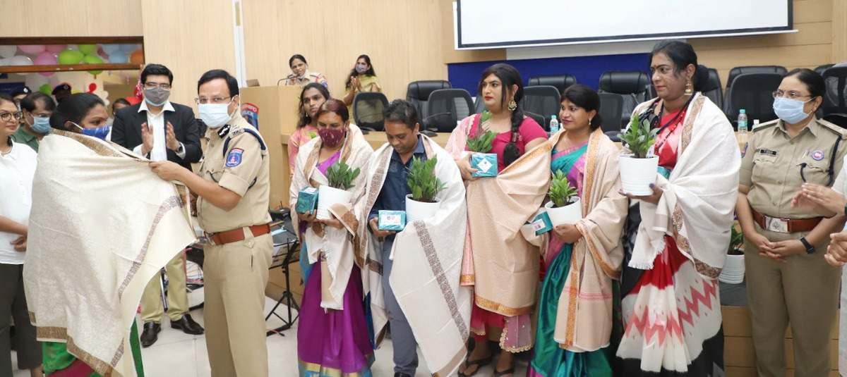 Cyberabad police observes Pride day, felicitates transgenders
