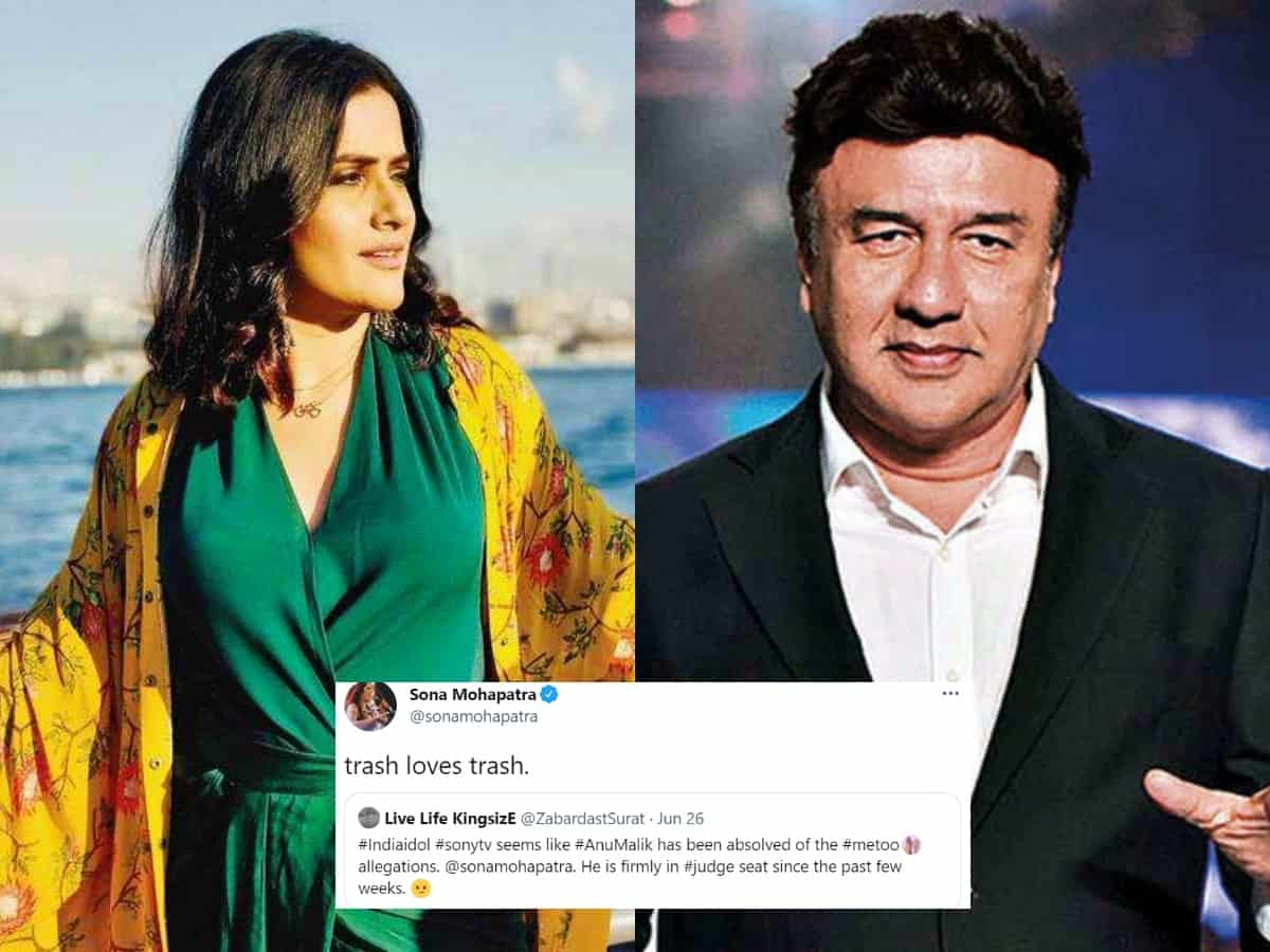Sona Mohapatra invokes sexual harassment claims against Anu Malik; calls him 'trash'