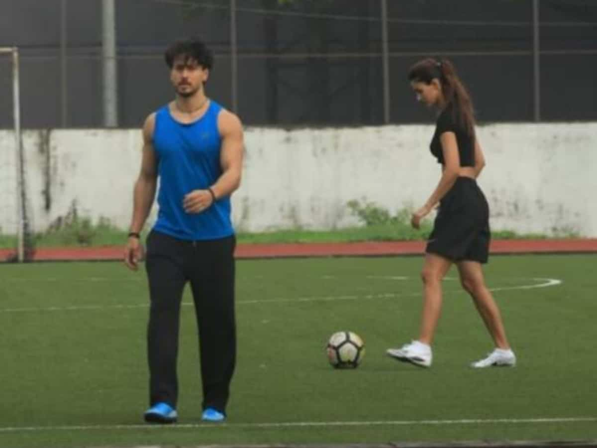 Another day, another game: Lovebirds Disha, Tiger spotted playing football