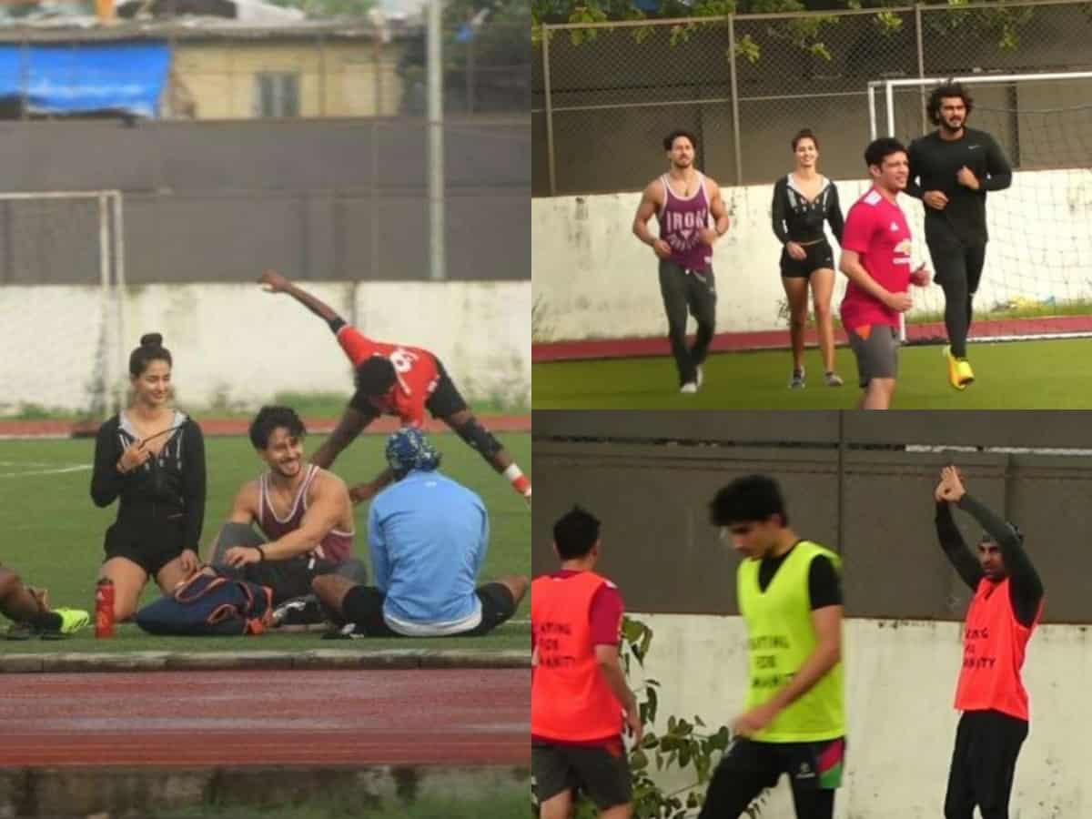 Disha Patani spotted playing football with Tiger Shroff, Ranbir Kapoor, Ibrahim – Viral Video