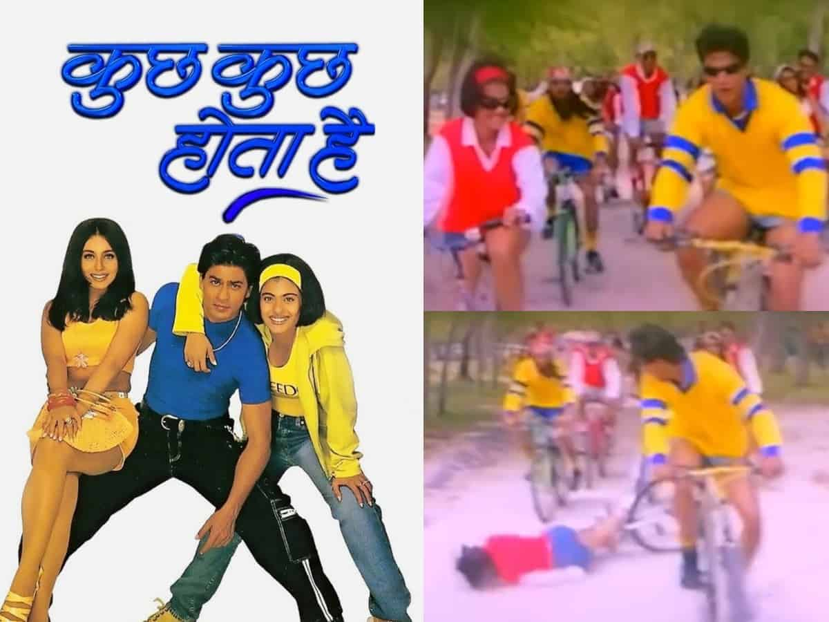 When Kajol fell off a cycle during 'Kuch Kuch Hota Hai' shoot [Video]
