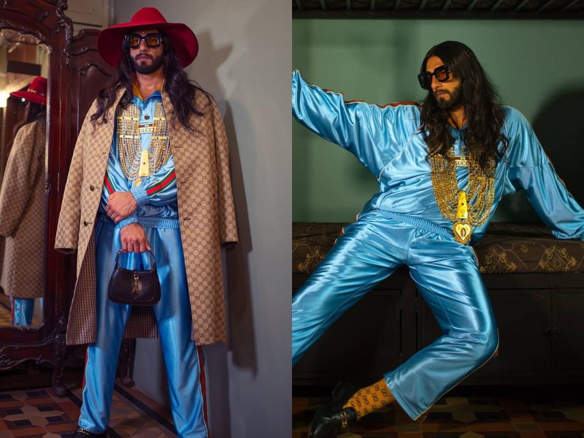 Ranveer's dramatic look goes viral, fans call him 'Deepika + bappi lahri'
