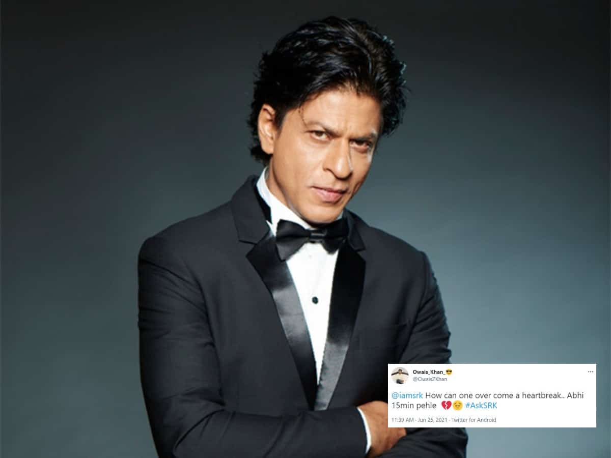 SRK's epic reply to a user who asked him how to overcome a heartbreak