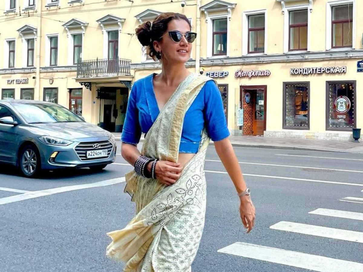 Photo of the day: Taapsee Pannu flaunts desi look on Russian streets