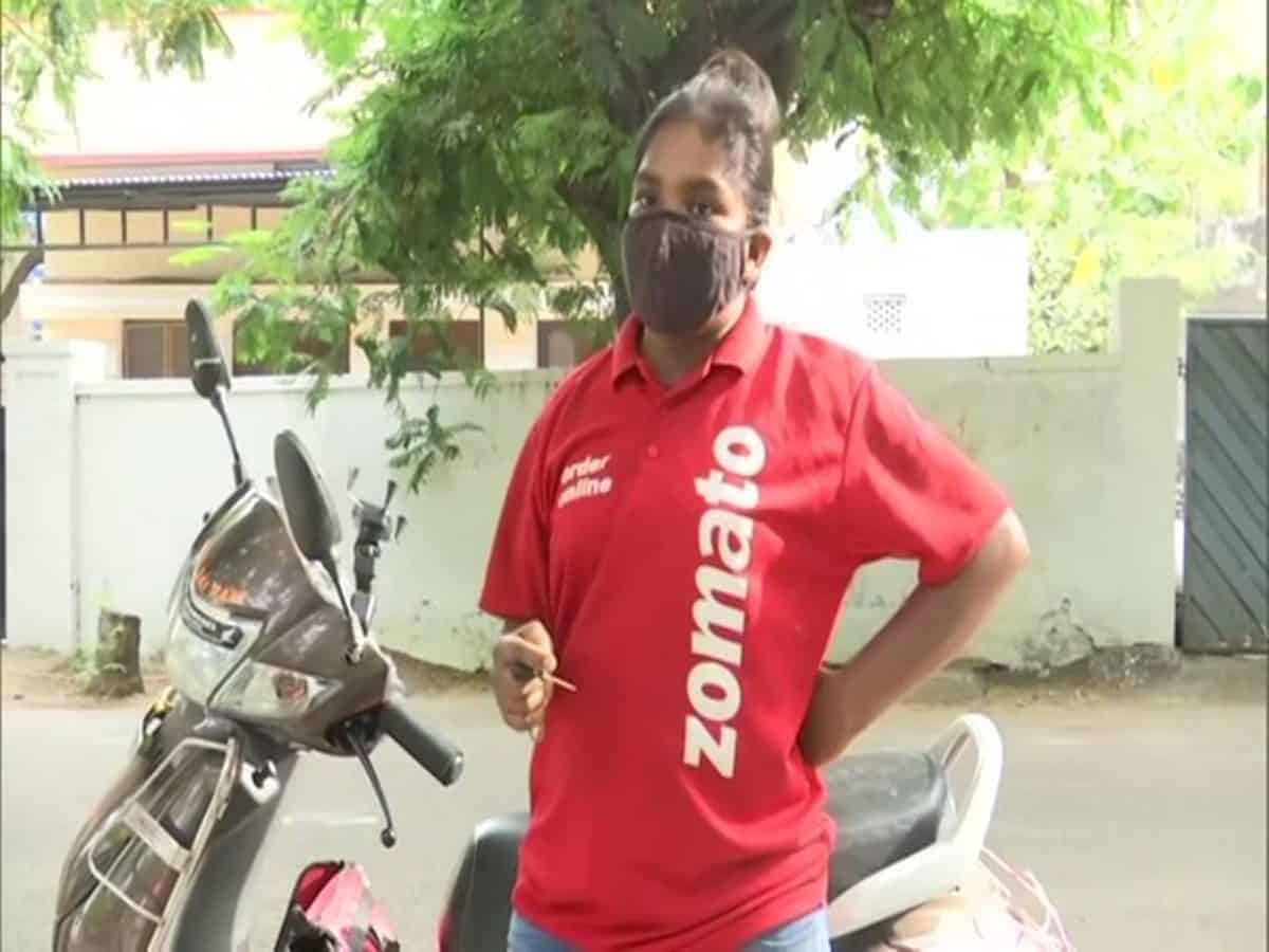 Hyderabad: Woman becomes food delivery executive to support studies, parents