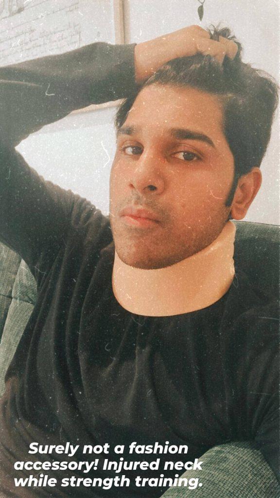 Allu Sirish gets injured while strength training