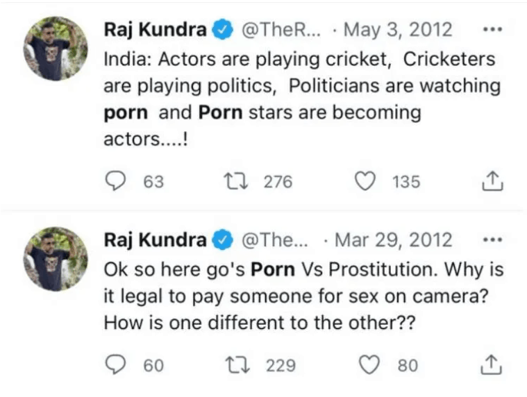 Raj Kundra's old tweets on 'Porn vs Prostitution' go viral post arrest