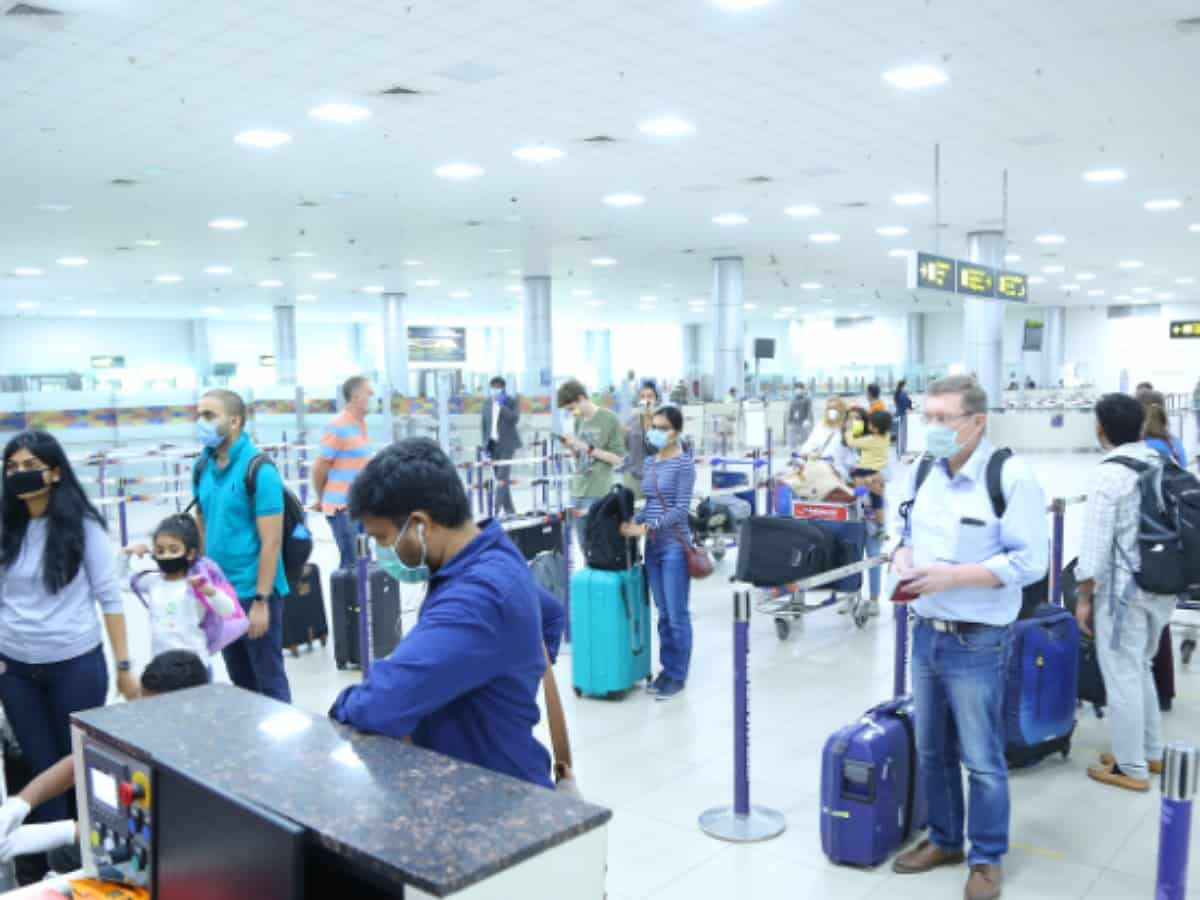 Hyderabad airport witnesses more than 4 lakh passengers in the month of June