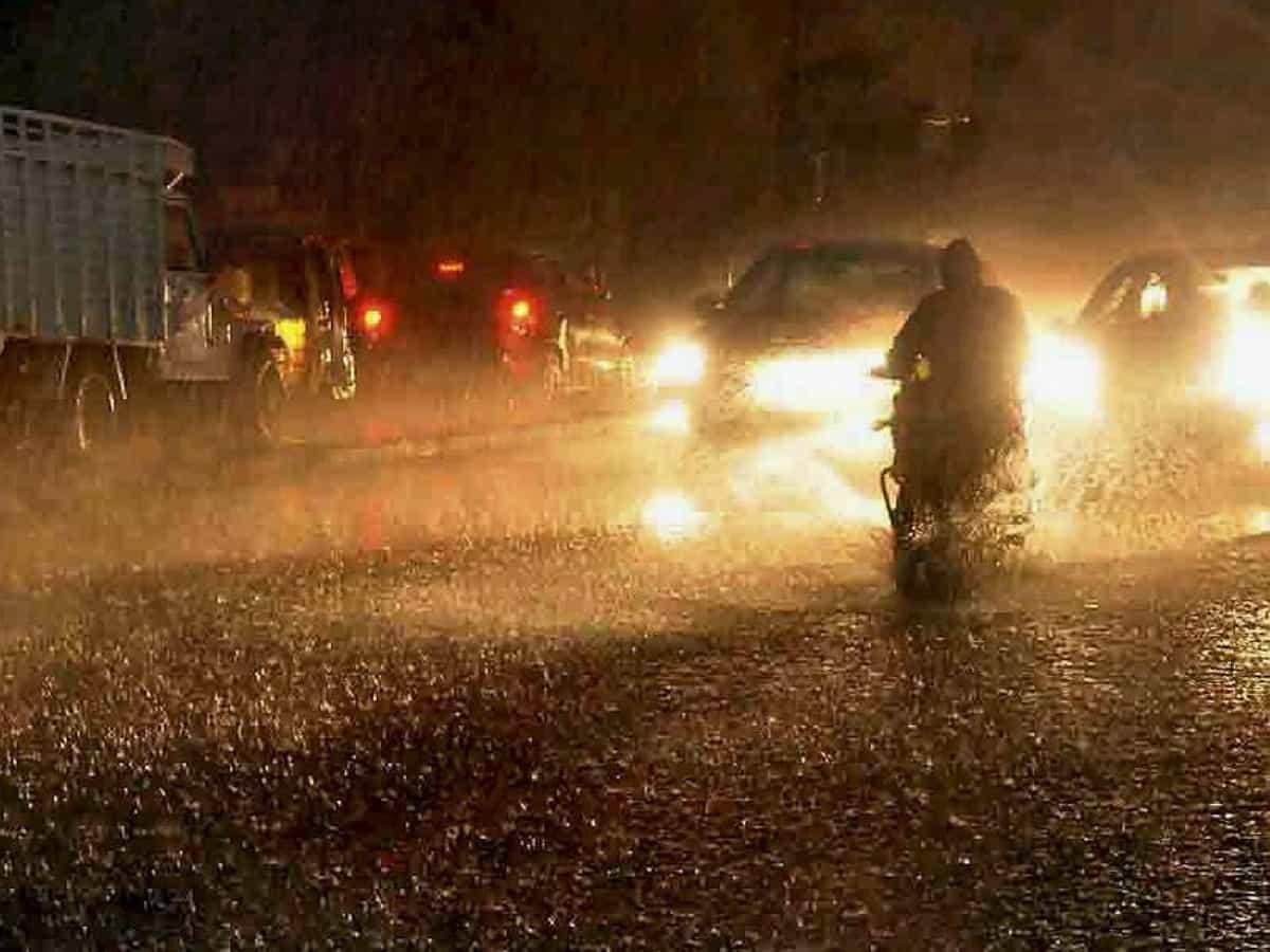 Hyderabad witnessed heavy rainfall on Saturday