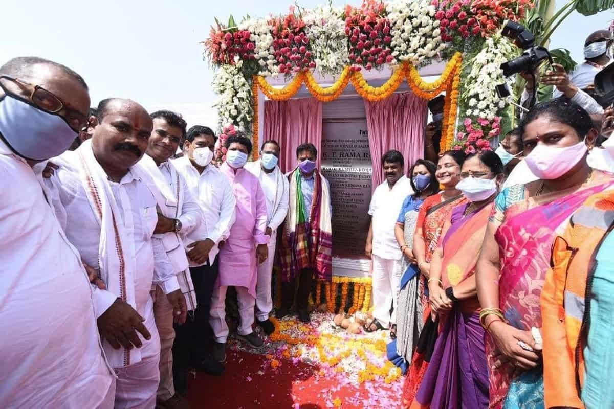 KTR inaugurates Babu Jagjivan Ram six-lane flyover at Balanagar