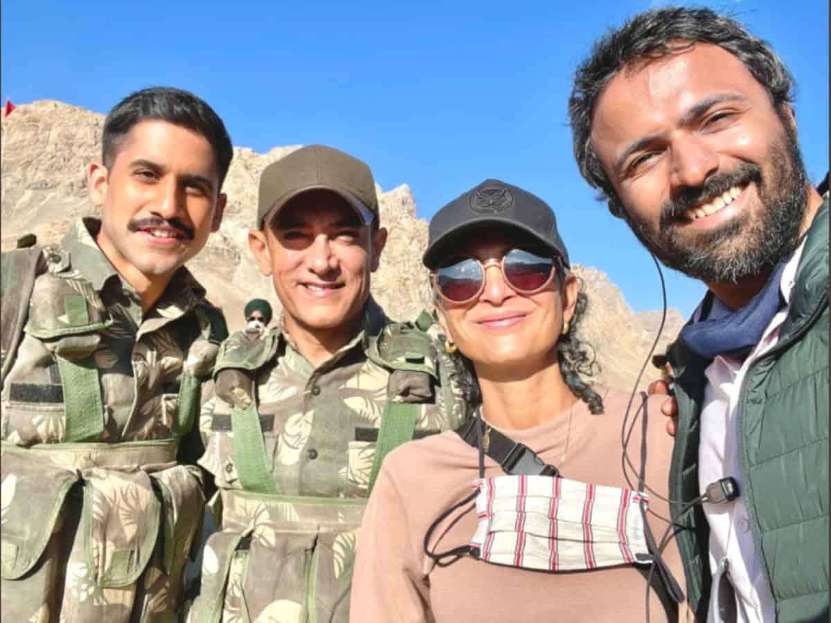 Naga Chaitanya shares pic on 'Laal Singh Chaddha' sets with Aamir Khan