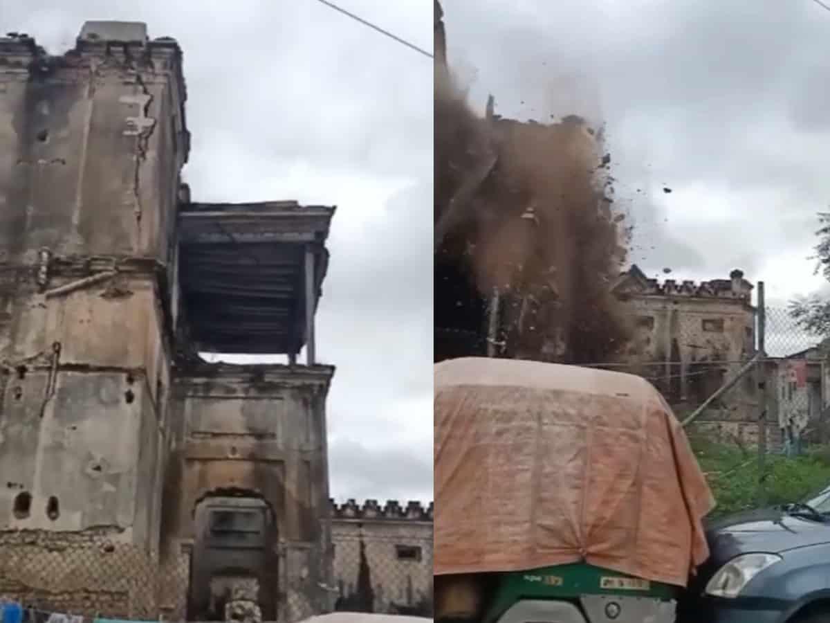Hyderabad: Portion of historic Nizam-era Mahbub Mansion falls