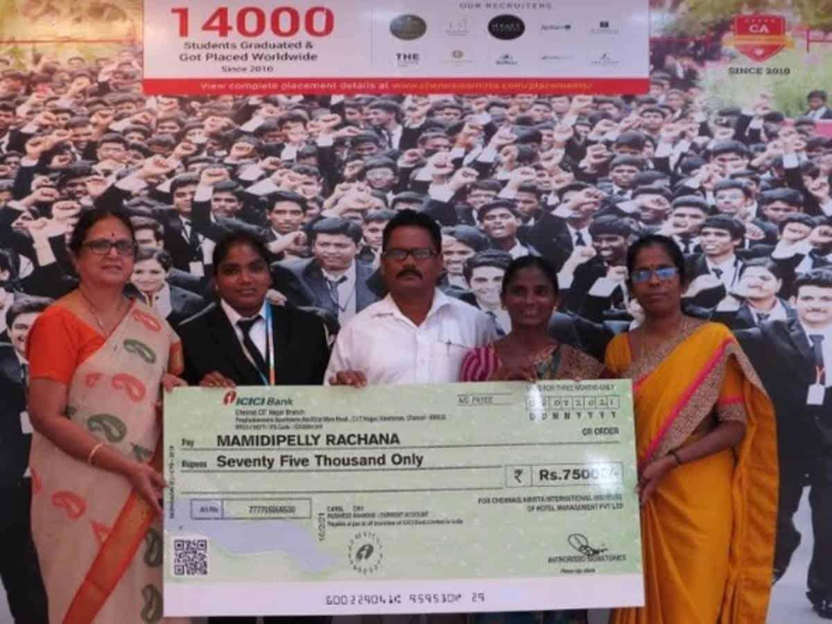 Chennai's Amrita sponsors education of Telangana food delivery girl