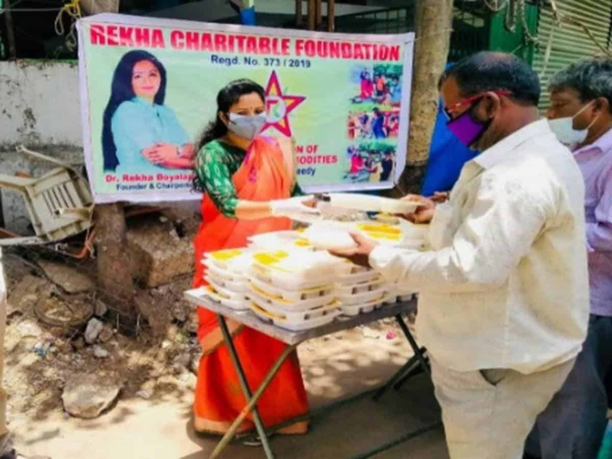 Rekha Charitable Foundation serving the COVID-hit with aplomb