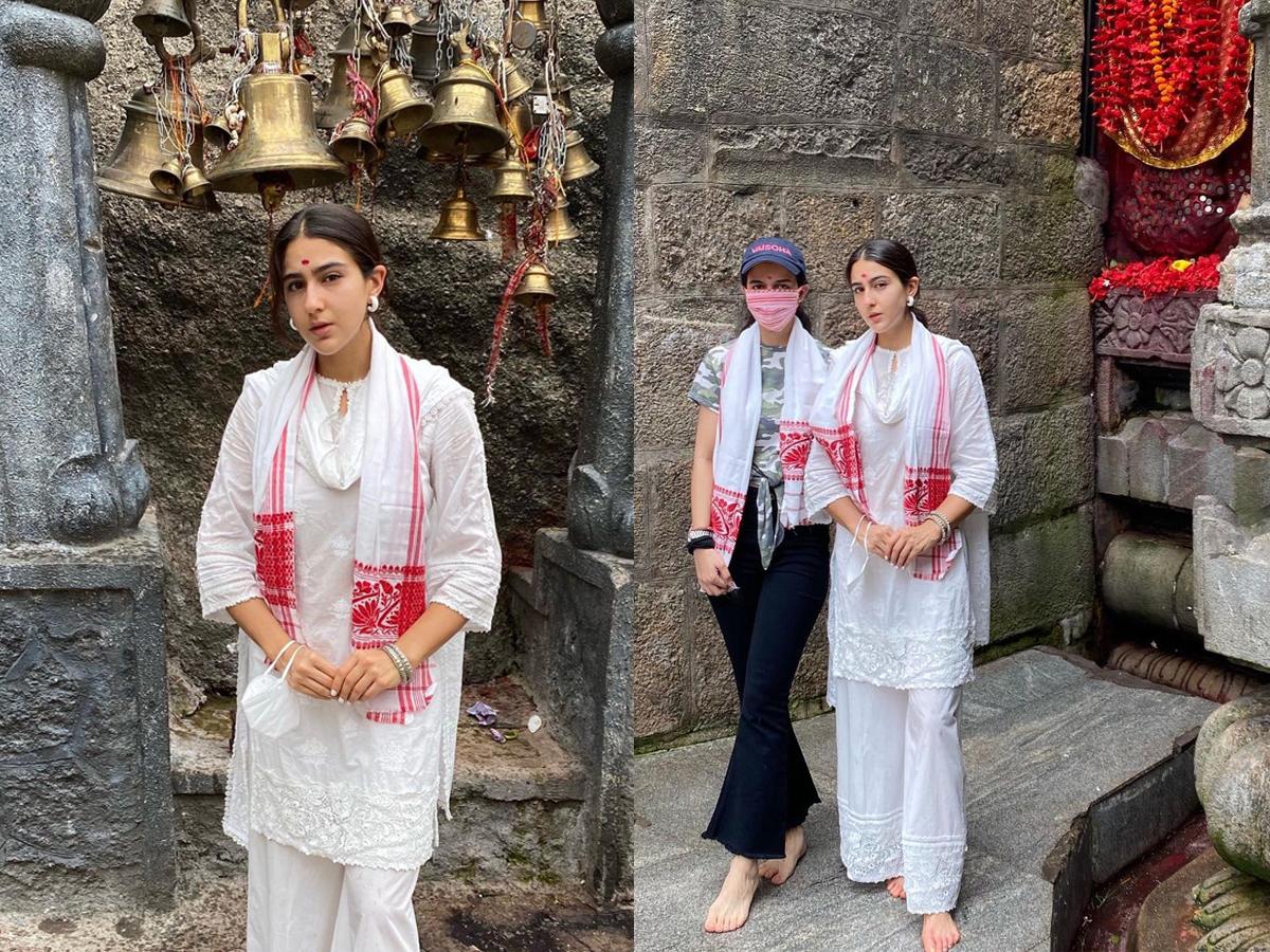'Blessed', says Sara Ali Khan after visiting Assam's Kamakhya Temple