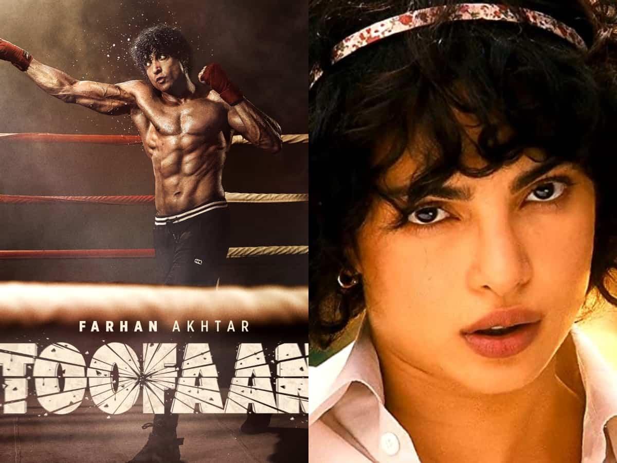 Twitterati compare Farhan Akhtar's look in Toofan to Priyanka Chopra
